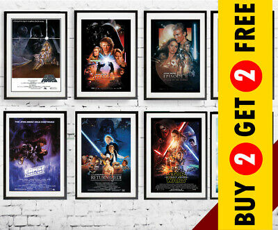 STAR WARS Movie Series Posters * All Episodes A3/A4 Size Wall Art Picture Prints