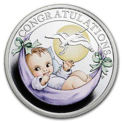 2019 Tuvalu 1/2 oz Silver Newborn Proof - SKU#185255