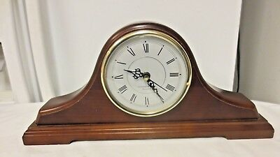 Westminster Chime Quartz Wood Mantel Shelf Clock-is Working
