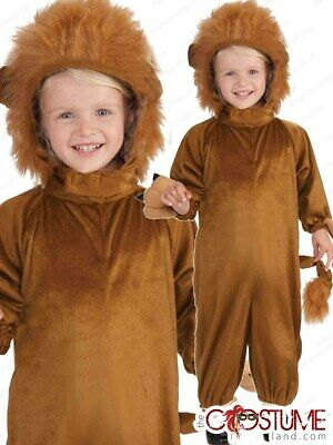 Lion Boys Kids Costume Child New Animal Storybook Tiger Dress Up Party Outfit