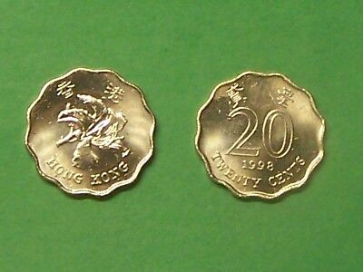 Hong Kong  1998   20 Cents  Uncirculated Coin