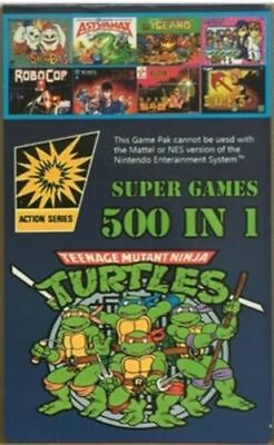 DIY 500in1 NES Classic Nintendo Super Game Cartridge Contra TMNT Bubble Bobble 2