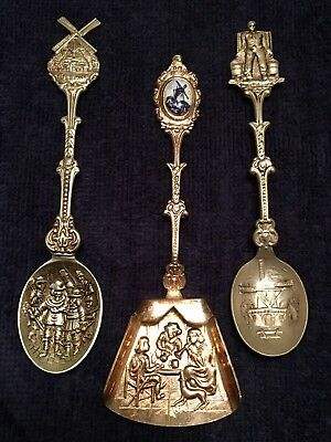 Souvenir/Collector's Spoons:  Lot of 3 from Holland