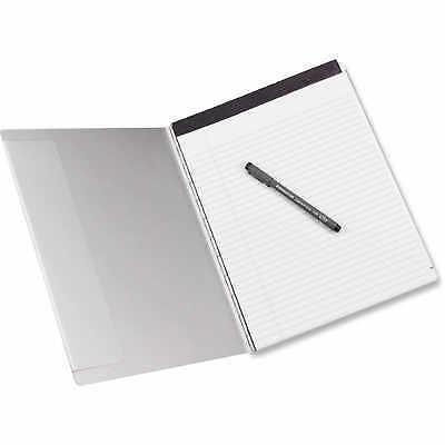 "Saunders Letter Padfolio holds pads up to 8.5"" x 12"" – Silver"