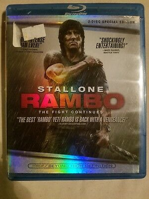 Rambo (Blu-ray 2008, 2-Disc Set, Special Edition) *Combine Shipping! Ships FAST!