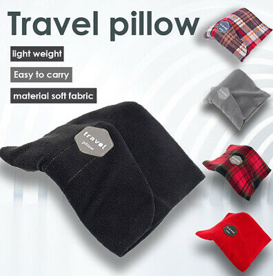 T-pillow Travel Portable Neck Support Pillow Scarf Cushion Head Rest Style Black