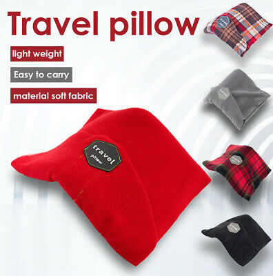 Airplane Portable Travel Neck Support Pillow Scarf Cushion Rest Ergonomics Red