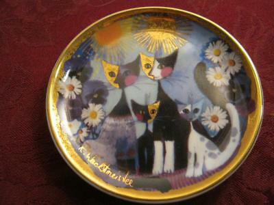 Goebel   R.wachtmeister    Katzenfamilie   Signed   Picasso  Style   Cats   Dish