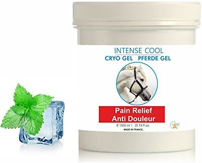 INTENSE COOL Gel Froid Cheval 1000 ml - Gel Articulations Circulatoire Effet Fr