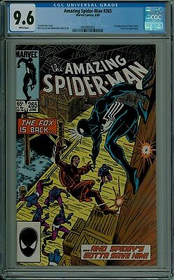The Amazing Spider-Man #265 CGC 9.6 NM+ white pages 1st SILVER SABLE 2003892002