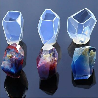 Silicone Crystal Gem Mould DIY Mold Resin Jewelry Pendant Making Craft Tools Hot