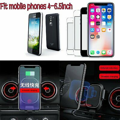 Phone Car Air Vent Outlet Mount Holder Wireless Charging Receiver for Audi A3/S3