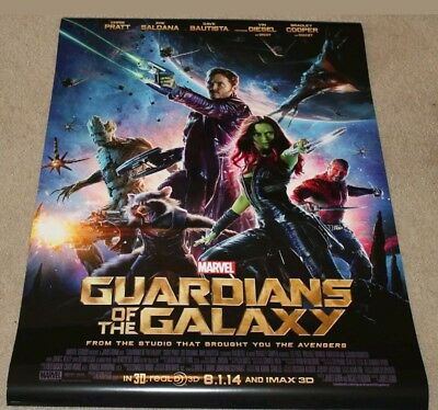 Guardians of the Galaxy 27x40 Double Sided Theatrical Movie Poster - Brand New
