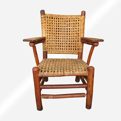 "SUPERB ""Old Hickory"" Arm Chair    inv372  (Stickley Era)"