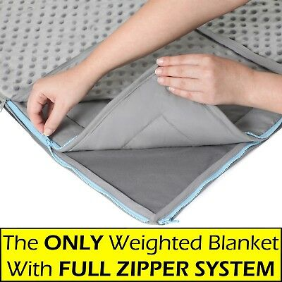 10 lb, 15 lb & 20 lb Weighted Blanket + FREE MINKY Cover - For Adults & Kids