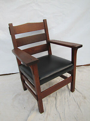 Antique Rare & Early Gustav Stickley Thornden Armchair  inv2650
