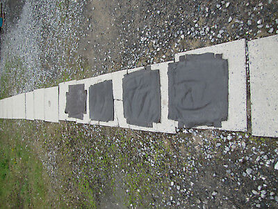 Lot of 4 Vintage Pieces of Leather for Seats inv25 (Stickley Era) FREE SHIPPING