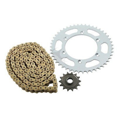 Gold O-Ring Chain and Sprocket Kit For Suzuki DR350 USA 1990 1991 1992 1993