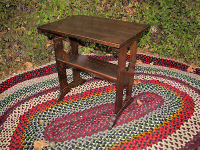 Antique Arts & Crafts Stand/Table  inv5151  (Roycroft/Stickley Era)
