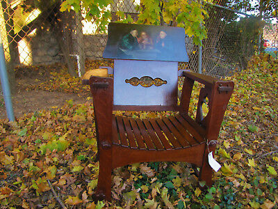 Rare Antique Shop of the Crafter Hall Chair  inv4427  (Stickley Era)
