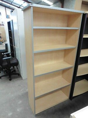 Office 1800Mm Young Beech / Silver Bookcase Brisbane