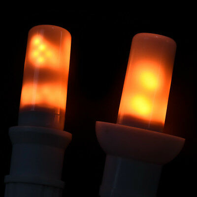 4Modes LED Flame Effect Simulated Fire Light Bulb E27 Flickering Lamp Decor 1PC