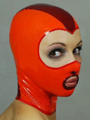 Sexy  Latex Mask Rubber Hood Gummi 0.4mm for Party Wear Catsuit Unique New