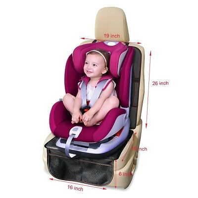 Summer Infant DuoMat Baby Child Car Seat Protector Mat Storage Pocket Upgraded