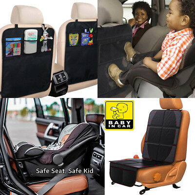 2-IN-1 Kick Mat For Car Auto Back Seat Cover Kid Care Organizer Protector Cleani