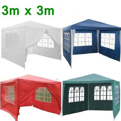 3MX3M PE Garden Gazebo Marquee Canopy Tent Awning Party 120g Waterproof Outdoor