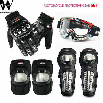 Motorcycle Motocross Protective Shin Guard Cycling Bike Knee Elbow Brace Support