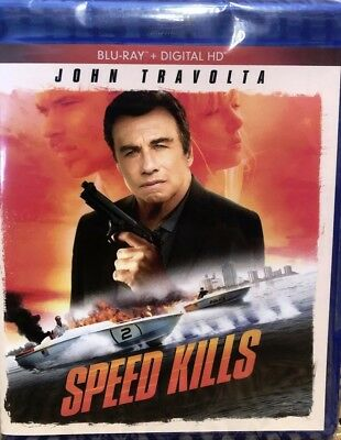 Speed Kills 2019 John Travolta Blu-ray Canadian Bilingual *LOOK* True Crime