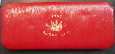 New Zealand 1953 QEII Proof Coin SET Case NICE