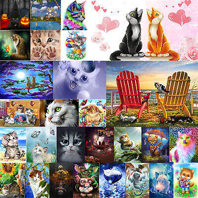 Full Drill 5D DIY Puppy Cats Diamond Painting Embroidery Cross Stitch Kit Crafts