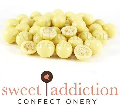 250g Premium White Chocolate Malt Balls - Bulk Candy Buffet AUSTRALIAN MADE