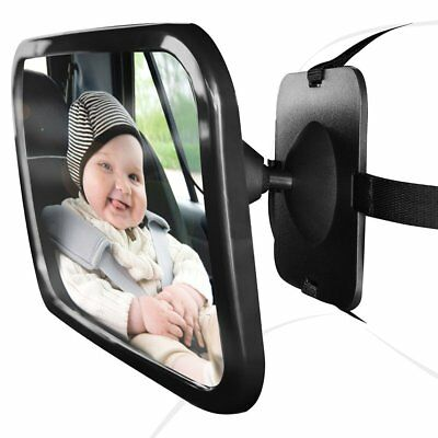 Adjustable Large Wide View Rear Baby Child Seat Car Safety Mirror Headrest BE