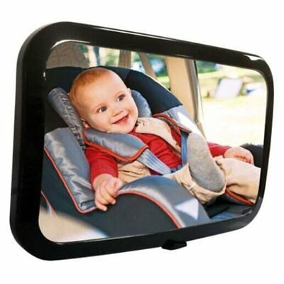 LARGE WIDE VIEW REAR Baby Child Car Seat SAFETY MIRROR ADJUSTABLE Headrest BE