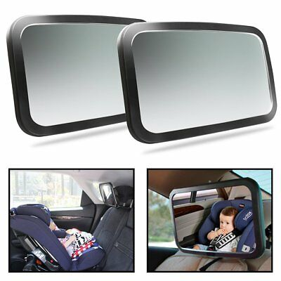 2 Pcs Adjustable Wide Car Rear Seat View Mirror Baby Seat Car Safety Monitor BE