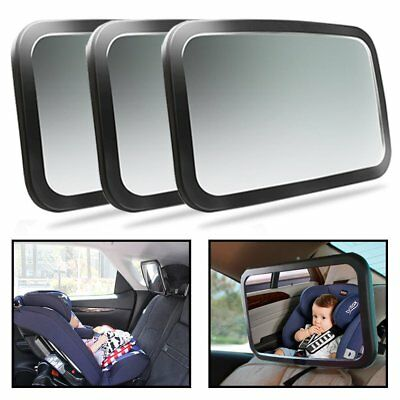 3 Packs Adjustable Wide Car Rear Seat View Mirror Baby/Child Seat Car Safety BE