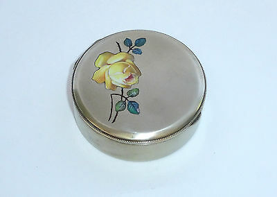 Beautiful Pill Box Container with Enamel