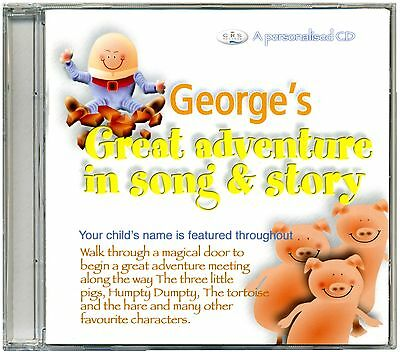 Personalised Kids CD  Children's Personalised Song & Story Adventure  ANY NAME