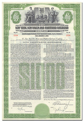 New York, New Haven and Hartford RR Co Bond Certificate (Harlem River Division)