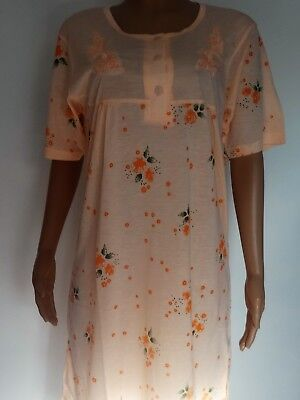 Ladies Short Sleeve Floral Jersey Poly Cotton Nightdress M L XL XXL 5  colours 25b358c1b