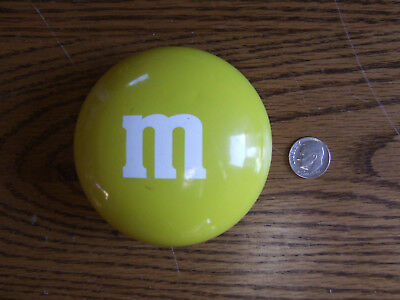 "Vintage Large Plastic M&M's Easter Yellow Candy Dish / Container 3"" tall"