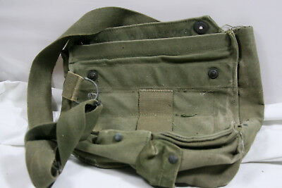 Vintage US MILITARY FIELD PROTECTIVE GAS MASK BAG M9 M17 M40 POUCH WWII