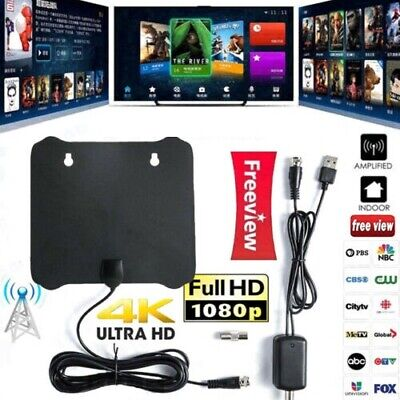 New 300 Miles Digital Antenna Clear TV Free HD 1080P Signal Amplifier Booster SE