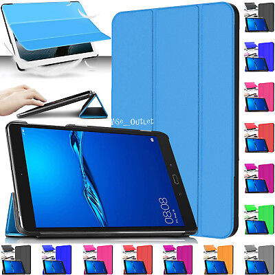 """Leather Magnetic Stand Smart Case Cover For Huawei MediaPad M3 Lite 8"""" Inch 2017"""