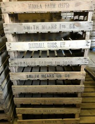Wooden Vintage Shabby Chic Farm Trays Boxs Bushel Storage Potato Chitting Apple