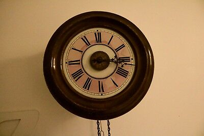 vintage lovejoy and co  19th century Black Forest postman alarm clock working