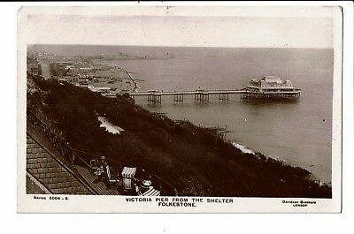 CPA - Carte postale Angleterre- Kent-Folkestone- Victoria Pier from the shelter